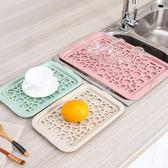 雙層鏤空水杯瀝水盤 創意長方形塑料托盤客廳放水果盤茶盤尾牙 限時鉅惠