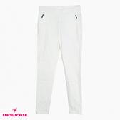 【SHOWCASE】運動風網布造型口袋彈力窄管褲(白)