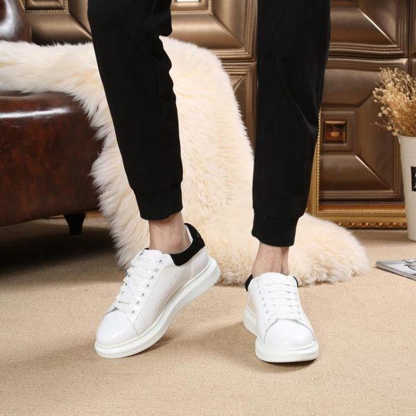 春季透氣小白鞋增高百搭板鞋厚底鬆糕運動鞋休閒鞋BLNZ 免運