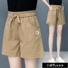純棉短褲女時尚新款夏季薄款寬鬆高腰顯瘦女褲夏天寬鬆運動短【全館免運】