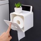 免打孔置物架防水卷紙筒盒手紙巾架【櫻田川島】
