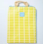 簡約防水防塵帆布文件袋 學生文具辦公拉錬檔案袋 資料手提收納袋