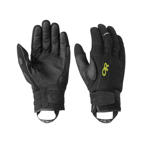 [OUTDOOR RESEARCH] (男) Alibi II Gloves 保暖攀登手套 黑/檸檬草 (OR243319-0151)