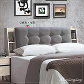 【水晶晶家具/傢俱首選】CX1151-2韋克6尺亞麻布面加大雙人床頭箱~~床底另購