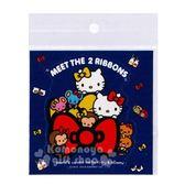 〔小禮堂〕Hello Kitty 造型裝飾貼紙《深藍.mimmy》壁貼.裝飾貼 4714581-30760