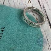 BRAND楓月 TIFFANY&CO. 蒂芬妮 銀寬戒指 #52 素戒 尾戒 925純銀 銀飾 配飾 配件 飾品 飾物
