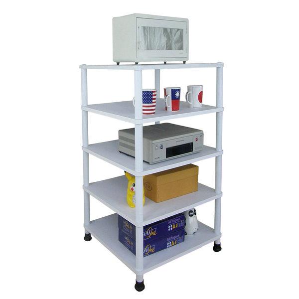 深40x寬40-五層短管型-置物架 收納架 電視架 廚房電器架(三色)WP4040L5