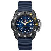 LUMINOX 雷明時Scott Cassell Deep Dive 專業深潛系列腕錶 - 金屬藍x白時標/45mm A1553