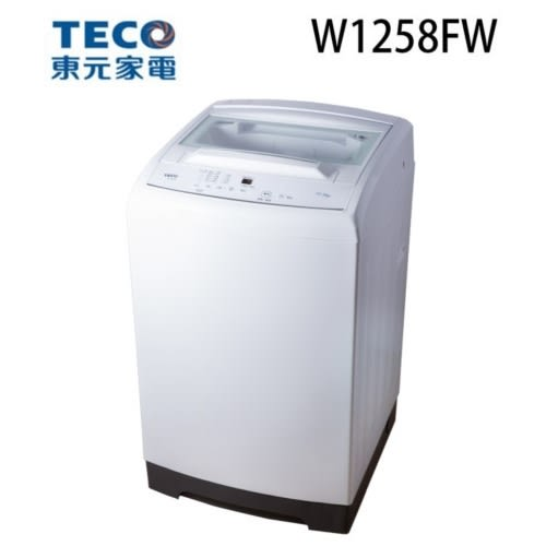 TECO 東元 12.5KG 定頻直立式洗衣機 W1258FW (典雅白)