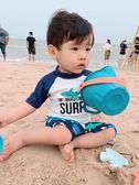 兒童泳衣男童中大童分體防曬沙灘泳褲套裝小童男孩寶寶溫泉游泳衣