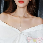 網紅水晶項鍊鎖骨鍊女頸鍊飾品choker項圈【聚可愛】