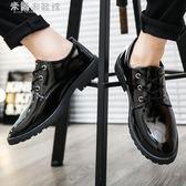 皮鞋男士黑色商務皮鞋男皮鞋子青年 米蘭潮鞋館
