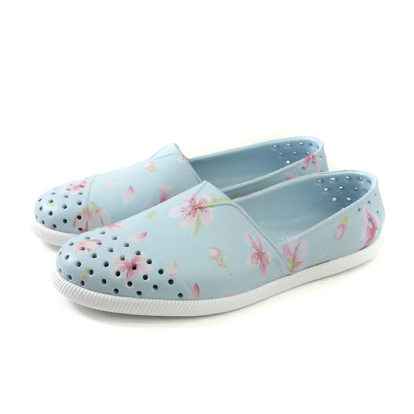 native VERONA PRINT 懶人鞋 洞洞鞋 淺藍色 花卉 男女鞋 11101801-8811 no865