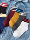 5雙ins條紋襪子女生中筒襪韓版學院風日繫百搭原宿風學生運動韓國
