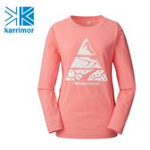日系[ Karrimor ]  mountain PF W`s L/ST  女款抗UV長袖排汗衣 粉紅