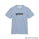 【GIORDANO】男裝英文標語印花T恤 - 83 雪花銀色湖水藍
