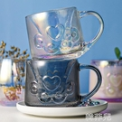 貓爪杯 貓爪杯可愛麥片杯子帶蓋勺早餐杯大容量牛奶杯家用加厚玻璃杯女生 韓菲兒