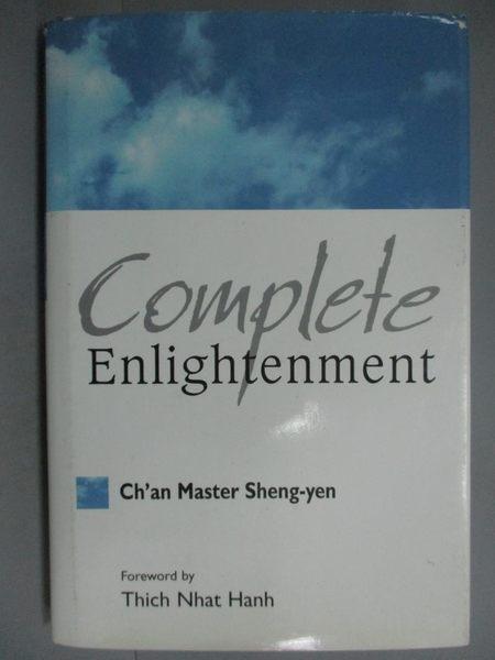 【書寶二手書T5/宗教_YBR】COMPLETE ENLIGHTENMENT完全證悟_聖嚴法師