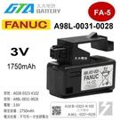 【久大電池】GE FANUC發那科 A98L-0031-0028 / A02B-0323-K102【PLC工控】FA-5