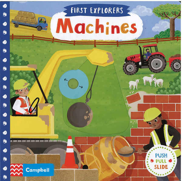 【幼兒知識操作書】FIRST EXPLORERS: MACHINES 硬頁操作書《主題:交通工具》