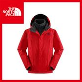 【The North Face 男 HV刷毛兩件式外套《紅》】CTS7/保暖/登山/戶外/賞雪