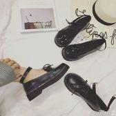 娃娃鞋復古圓頭英倫學院風鬆糕厚底淺口單鞋學生娃娃小皮鞋 爾碩數位3c