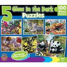 [KANGA GAMES]拼圖 Glow in the Dark 5-Pack Puzzles 100片
