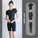 【Charm Beauty】3件套 瑜伽服 夏季 跑步 運動 速乾 高腰 提臀 緊身薄款 夏天 時尚 高端 健身套裝