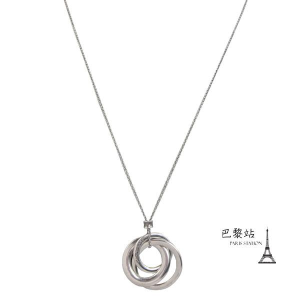 【巴黎站二手名牌專賣店】*現貨*TIFFANY & CO. 真品* 925純銀 圓圈造型項鍊
