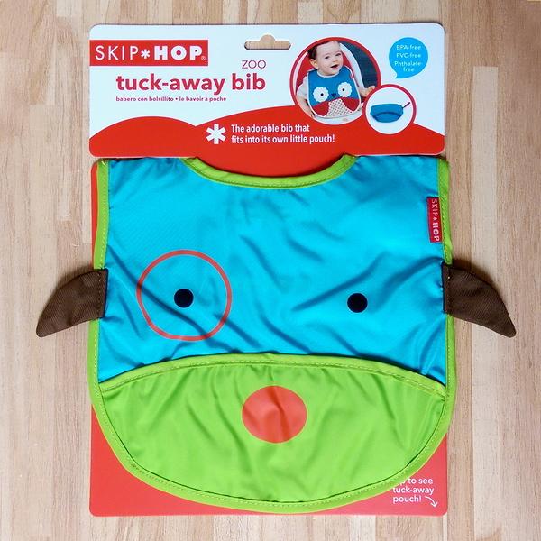 美國SKIP HOP ZOO Bib動物寶寶圍兜 防水圍兜(小狗)-超級BABY