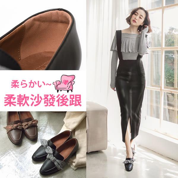 Ann'S學院風格-格子造型啾啾紳士鞋-黑