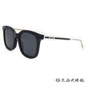 GUCCI 太陽眼鏡 GG0562SK (黑透明-綠邊) 百搭款  墨鏡 久必大眼鏡
