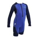 兒童防寒泳衣 義大利 2mm 防曬抗長袖 新款 (海軍藍) 適合泳池海灘天冷保暖 防磨擦