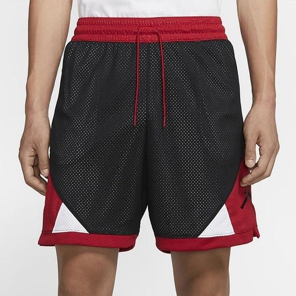 NIKE Jordan Jumpman Diamond 男裝 短褲 籃球 休閒 喬丹 拉鍊口袋 黑 紅【運動世界】CU2350-010