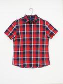【American Eagle】 男款格子襯衫 - 紅色M/L
