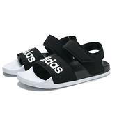 ADIDAS 涼鞋 ADILETTE SANDAL 黑白 拖鞋 平底 女 (布魯克林) F35416