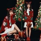 聖誕節 秋冬毛衣新年聖誕主題寫真服裝時尚小清新藝術照攝影服飾 格蘭小鋪
