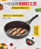 平底鍋不黏鍋煎鍋牛排煎鍋煎餅鍋煎蛋鍋小電磁爐燃氣灶通用  IGO