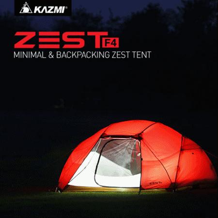 【原廠公司貨】丹大戶外【KAZMI】 ZEST F4 極簡輕巧四人帳 K7T3T010