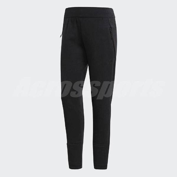 adidas 長褲 Z.N.E. Slim Pants 黑 全黑 女款 舒適 訓練褲 【ACS】 BR1900