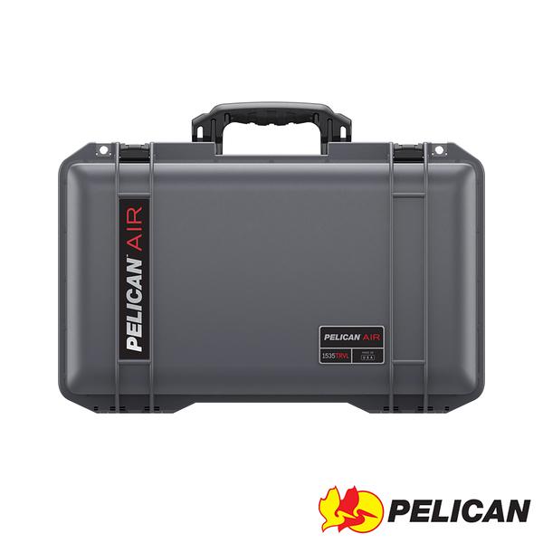 美國 PELICAN 1535TRVL Air Travel Case 輪座拉桿超輕氣密箱-(灰) 公司貨