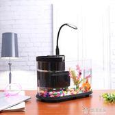 usb 創意迷你小魚缸小型水族箱小金魚生日送朋友禮物可水循環加氧 免運 生活主義