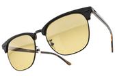RayBan太陽眼鏡 RB3016F 12773K (黑棕-黃鏡片) 時尚新寵經典眉框款 # 金橘眼鏡