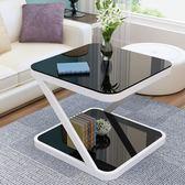 陽臺小茶几簡約現代迷你方形客廳沙發邊幾簡易小戶型創意角幾茶几【快速出貨】