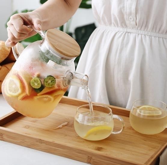 冷水壺 日式玻璃冷水壺套裝耐熱泡茶壺涼開水杯壺家用涼水壺電陶爐壺杯子完美