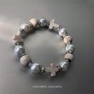 手鏈 CHEALIMPID/珍珠水鉆十字架手鏈高級感設計潮流嘻哈男女手串 嬡孕哺
