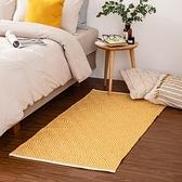 哈里印度手工地毯-黃80x150cm