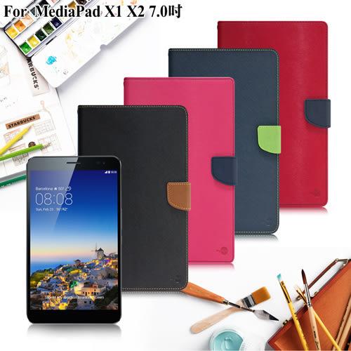 【台灣製造】MyStyle HUAWEI MediaPad X1 / X2 7.0 甜蜜雙搭支架側翻皮套