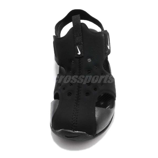 Nike 涼鞋 Sunray Protect 2 PS 黑 全黑 運動鞋 魔鬼氈 小朋友 中童鞋【ACS】 943826-001