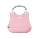 日本 Hoppetta 兒童立體防漏餐圍兜 - 雲朵星彩/粉色